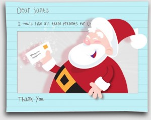 email santa what you want for Christmas