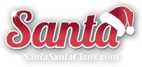 Santa Santa Claus logo light