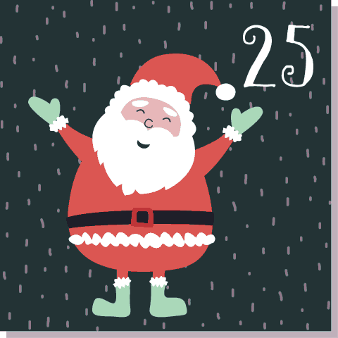 25 December mas Day Santa's Advent Calendar